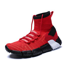 Mens Casual Boots Sports Sneakers Fashion Running Gym High Top Breathable Shoes