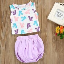 2PCS Toddler Kids Baby Girls Clothes Outfits T-shirt Tops+Pants Shorts Dress Set