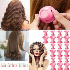 10/30Pcs Magic Silicone Hair Curlers Rollers No Clip Formers Styling Curling DIY