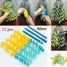 12Pcs Magic Long Hair Curlers Curl Rollers Spiral Ringlets Leverage Former 50cm