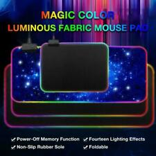 ❤ Extended Colorful LED Lighting RGB Gaming Keyboard Mouse Pad Mat for PC Laptop