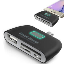 4 in 1 OTG/TF/SD Smart Type-C Card Reader Adapter Micro USB Charge Ports HEP