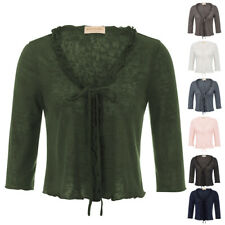 Ladies Women Knitted Shrug Bolero Tops Cropped Shirt Open Front Cardigan Sweater