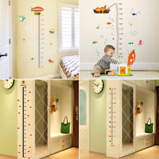 2019 Cute Height Growth Chart Hanging Rulers Wall Stickers Kids Room DIY Decor