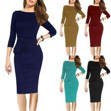 Elegant Women Business Office Work Formal Party Bow Bodycon Sheath Pencil Dress