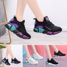 Women Athletic Sneakers Running Sports Fitness Round Toe Flat Trainers Gym Shoes