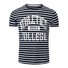 New Fashion Summer Printing Men Short Sleeve Casual Striped Cotton T-shirt SP