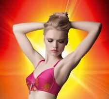 Vintage Cinch Bra Made By Niki Front Size 30G Electric Shock Pink Orange New