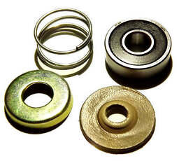 Spindle shaft bearing leather seal spring cover cup repair kit Weber Dellorto