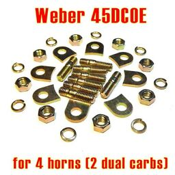 Installation kit pads tabs lock Weber 45 DCOE for 4x velocity stack air horn