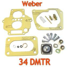 Weber 34DMTR Service kit repair rebuild tune up gasket set +175 valve+filter+pin