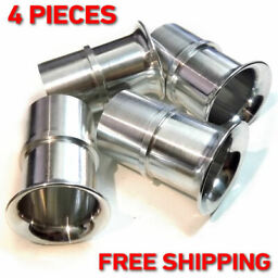 4x Velocity Stacks air horn ram pipes trumpet WEBER 40 DCOE DELLORTO SOLEX