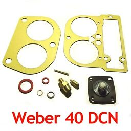 Weber 40 DCN service gasket kit repair set with diaphragm valve float pin