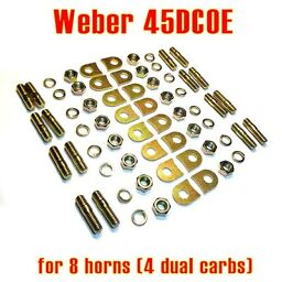 Installation kit pads tabs lock Weber 45 DCOE for 8x velocity stack air horn