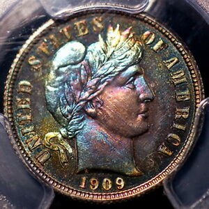 Click now to see the BUY IT NOW Price! 1909 BARBER DIME PR66  PCGS