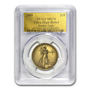 Click now to see the BUY IT NOW Price! 2009 ULTRA HIGH RELIEF DOUBLE EAGLE MS 70 PCGS  GOLD FOIL LABEL