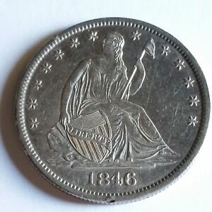 Click now to see the BUY IT NOW Price! 1846 O SEATED LIBERTY HALF DOLLAR   MS: 2 304 000 MINTED    SHIPS FREE FROM TX