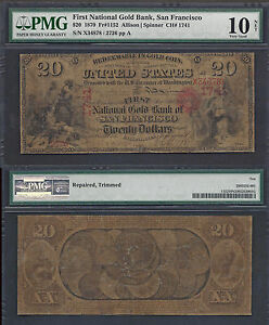 Click now to see the BUY IT NOW Price! $20 1870 NATIONAL GOLD BANK NOTE   RARITY  CH. 1741  PMG