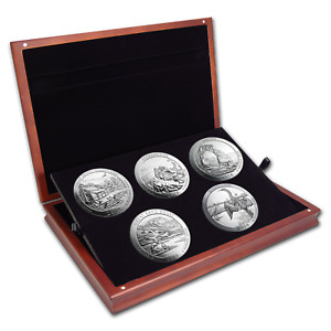 Click now to see the BUY IT NOW Price! 2014 5 COIN 5 OZ SILVER ATB SET  ELEGANT DISPLAY BOX    SKU 85540
