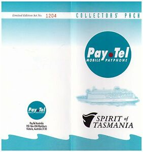 PAY.TEL COLLECTORS' PACK   SPIRIT OF TASMANIA   LTD EDITION 3 CARD SET MINT