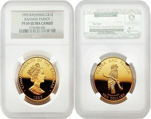Click now to see the BUY IT NOW Price! BAHAMAS 1995 BAHAMA PARROT $10 GOLD NGC PF69 ULTRA CAMEO
