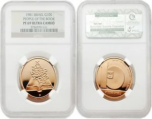 Click now to see the BUY IT NOW Price! ISRAEL 1981 PEOPLE OF THE BOOK 10 SHEQALIM GOLD NGC PF69 ULTRA CAMEO