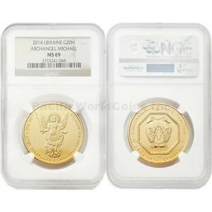 Click now to see the BUY IT NOW Price! UKRAINE 2014 ARCHANGEL MICHAEL 20 HRYVEN 1 OZ GOLD NGC MS69