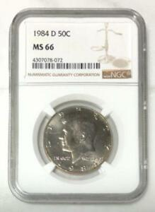 Click now to see the BUY IT NOW Price! 1984 D KENNEDY HALF DOLLAR NGC MS66     REV. TYE'S COIN STACHE    807266