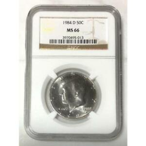 Click now to see the BUY IT NOW Price! 1984 D KENNEDY HALF DOLLAR NGC MS66     REV. TYE'S COIN STACHE    501385
