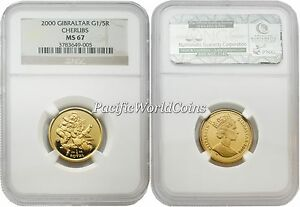 Click now to see the BUY IT NOW Price! GIBRALTAR 2000 CHERUBS 1/5 ROYAL 1/5 OZ GOLD NGC MS67