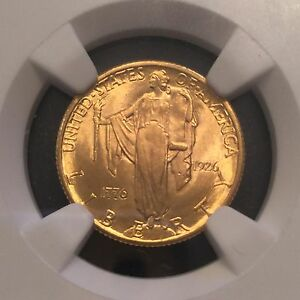 Click now to see the BUY IT NOW Price! 1926 $2 1/2 GOLD SESQUICENTENNIAL MS66 NGC GRADED