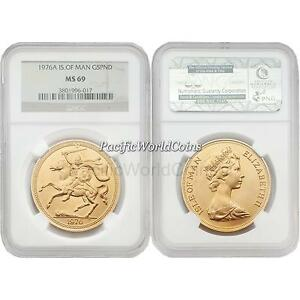 Click now to see the BUY IT NOW Price! ISLE OF MAN 1976A 5 POUNDS GOLD NGC MS69