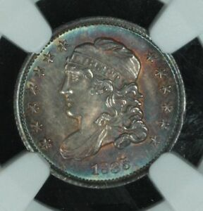 Click now to see the BUY IT NOW Price! 1835 BUST HALF DIME LARGE DATE LARGE C NGC MS66  TONED