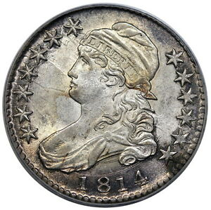 Click now to see the BUY IT NOW Price! 1814 BUST HALF DOLLAR O 103 PCGS MS 62 CAC AMAZING EYE APPEAL