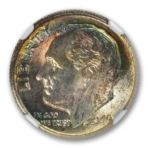 Click now to see the BUY IT NOW Price! 1949 D U.S. ROOSEVELT DIME  SILVER  10C NGC MS68 TOP POP TONER