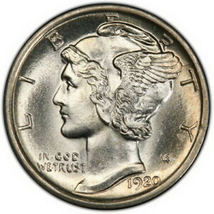Click now to see the BUY IT NOW Price! 1920 MERCURY DIME PCGS CAC MS66 FB