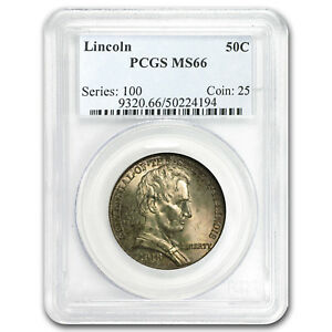 Click now to see the BUY IT NOW Price! 1918 LINCOLN ILLINOIS CENTENNIAL HALF DOLLAR MS 66 PCGS   SKU 102140