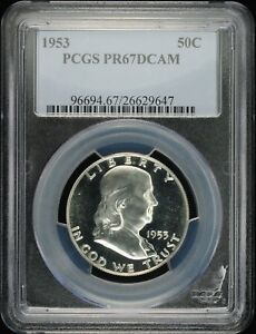 Click now to see the BUY IT NOW Price! 1953 FRANKLIN 50C PCGS PR 67 DCAM