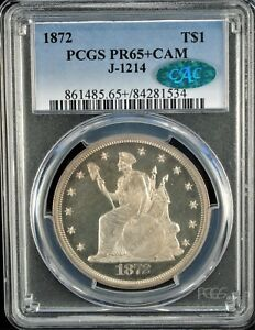 Click now to see the BUY IT NOW Price! 1872 PATTERN T$1 J 1214 PCGS PR 65  CAM  CAC