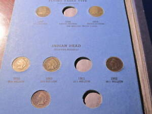 47   INDIAN HEAD CENTS COLLECTION 1857 1858 1859 1860 1866 1867 1868 1869 1873
