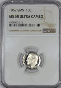 Click now to see the BUY IT NOW Price! 1967 SMS ROOSEVELT DIME NGC MS68 ULTRA CAMEO