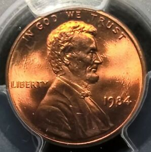 1984  LINCOLN CENT  PCGS MS67RD