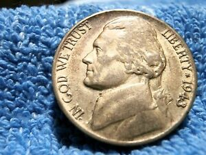SILVER WAR: NICKEL 1943 P  LY FINE