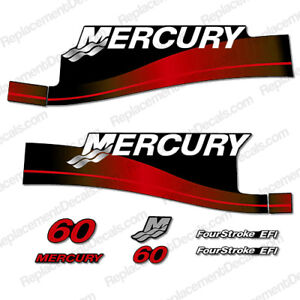 Mercury 50 Four Stroke EFI outboard decal aufkleber adesivo sticker set
