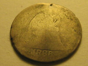 1886 P SEATED LIBERTY DIME CULL