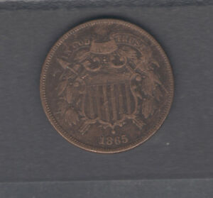 COINS US  TWO CENT 1865