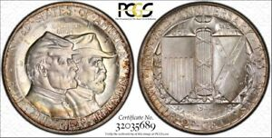 Click now to see the BUY IT NOW Price! EXCEPTIONAL RIM TONED 1936 GETTYSBURG COMMEMORATIVE HALF DOLLAR PCGS MS67