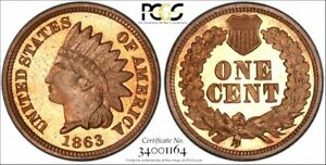 Click now to see the BUY IT NOW Price! 1863 INDIAN CENT PCGS PR 66CAM  THE FINEST 1863 CAMEO PROOF CENT SEEN TO DATE