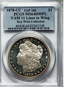 Click now to see the BUY IT NOW Price! 1878 CC MORGAN DOLLAR PCGS MS 64 DMPL VAM 11. KEY WEST COLLECTION