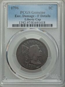 1796 LIBERTY CAP  NGC GRADED FINE DETAILS GOOD DATE